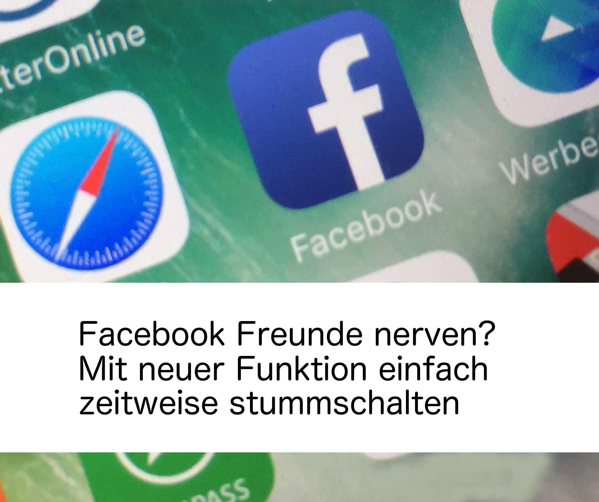 Facebook Freunde nerven