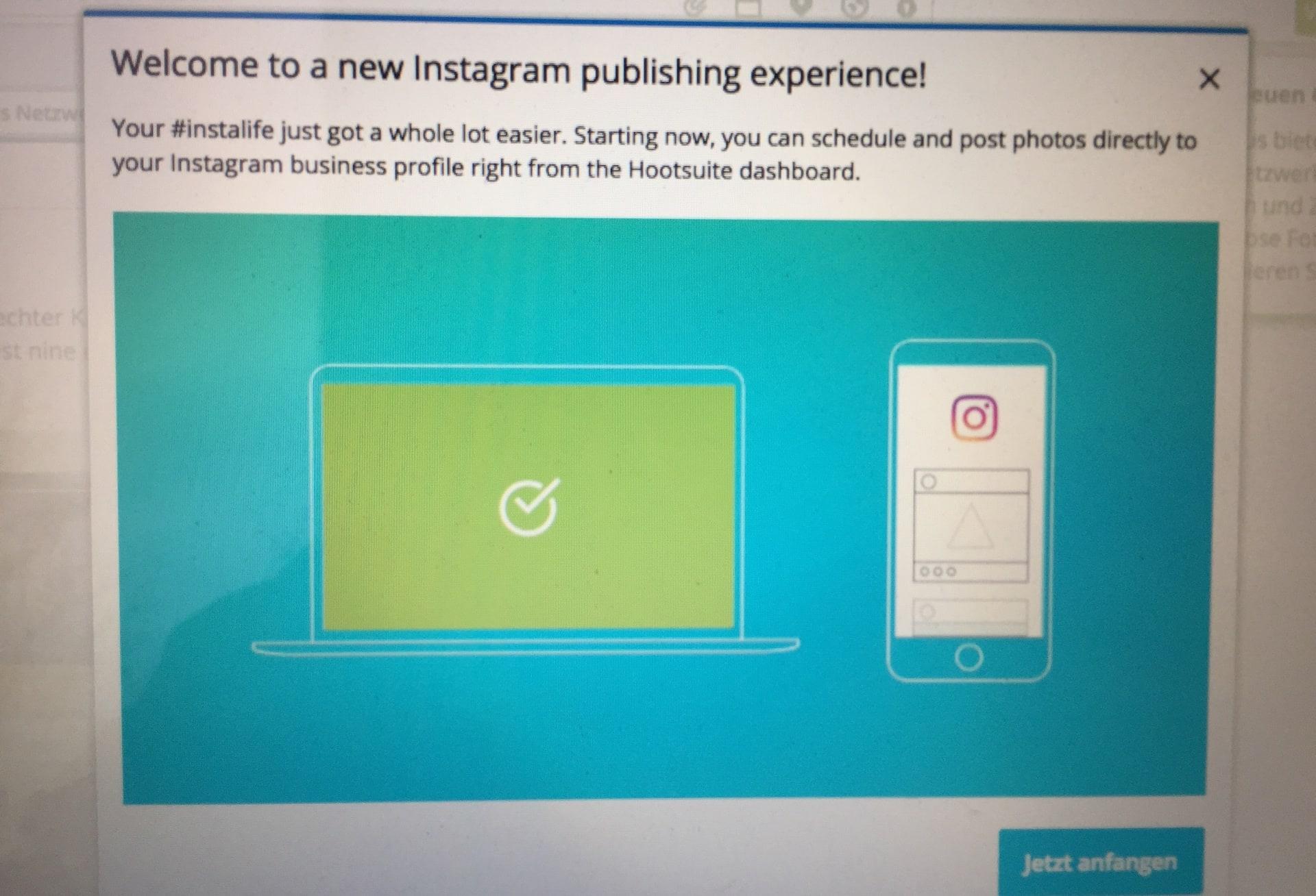 Instagram erlaubt die zeitliche Planung von Posts