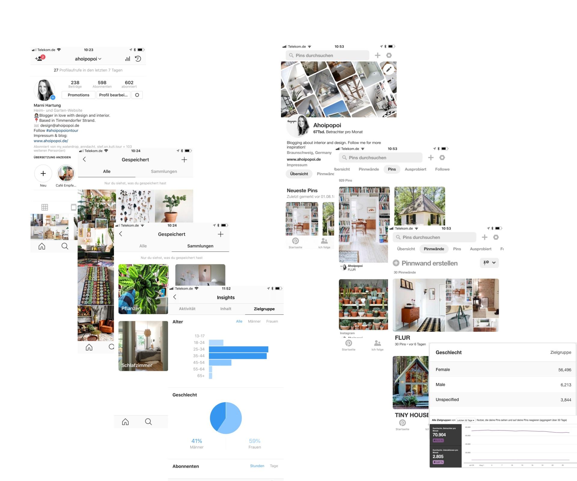 Instagram versus Pinterest - ein Vergleich für Unternehmen