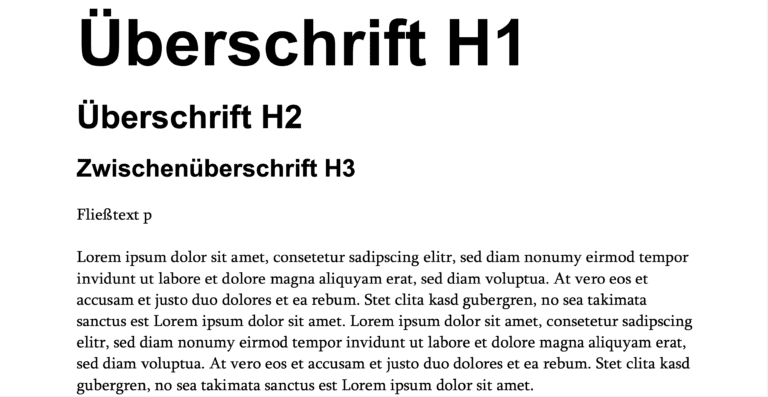 Typografieregeln Websites